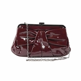 Melie Bianco Amelie Bow Satchel Bag - Burgundy
