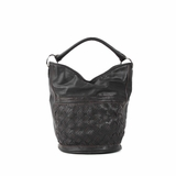 Melie Bianco Blair Woven Bucket Bag - Black