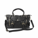 Melie Bianco Brandy B1638 Double Handle Handbag - Black