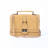 Melie Bianco Edith Top Handle Satchel Bag - Camel