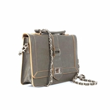 Melie Bianco Edith Top Handle Satchel Bag - Olive