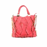 Melie Bianco Heather Zig Zag Fringe Bag - Pink