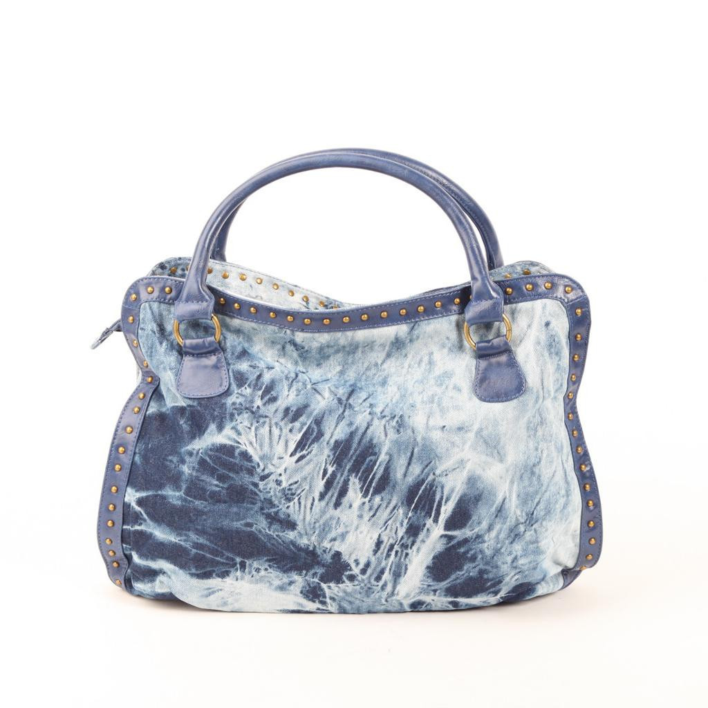 Authentic Melie Bianco Jenny Denim Flower Bag Hobo - Light Blue At Modaqueen.com