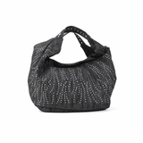Melie Bianco Jessica Over Sized Denim Shopper Tote Bag - Black
