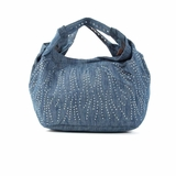 Melie Bianco Jessica Over Sized Denim Shopper Tote Bag - Blue