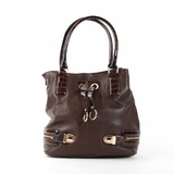 Melie Bianco Karina Bucket Tote - Brown