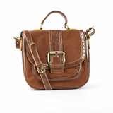 Melie Bianco Karla Top Handle Handbag With Nubuck Trim - Camel