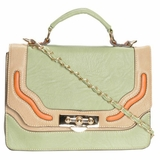 Melie Bianco Leather Fabric D2306 Nora Cross Body - Green