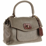 Melie Bianco Leather Sandra Shoulder Bag - Grey