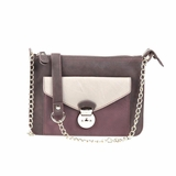 Melie Bianco Madeline Color Blocked Cross-body Bag With Chain Strap - Brown
