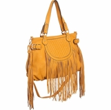 Melie Bianco Mango Large Pauline Crossbody Convertible Bag - Yellow