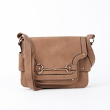Melie Bianco Nancy Structured Crossbody Bag - Camel