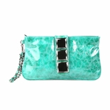 Melie Bianco Stone Clutch Wallet Aqua - Green