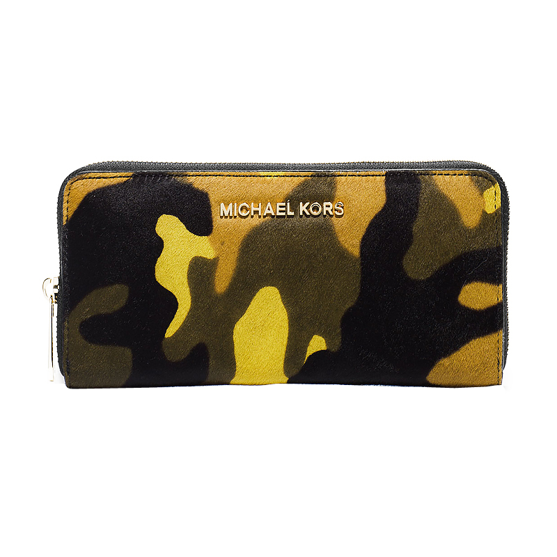 61a1ff0f5cdb Authentic Michael Kors Jet Set Travel Zip Around Continental Haircalf Wallet  at Modaqueen.com
