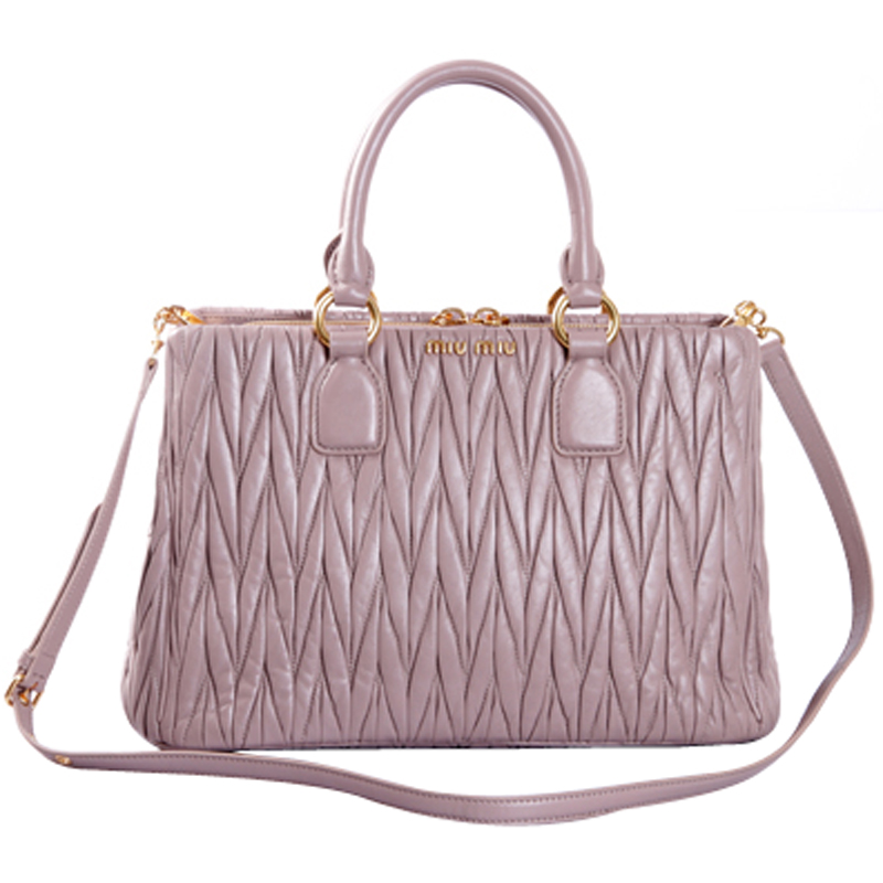 40ee186b939c Miu Miu Matelasse Leather Shoulder Bag RN0873 Mughetto - Purple