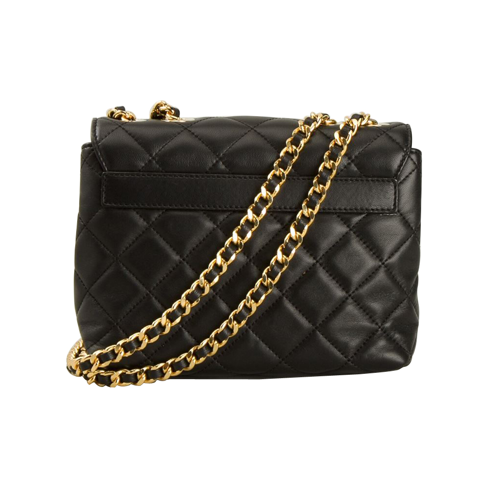 Authentic Moschino Quilted Logo Chain Cross Body Bag