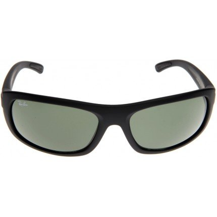 Ray Ban RB4166 622 Black Rubber Frame Crystal Green Lens 62mm Sunglasses