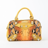 Nicole Lee Catava Python Lover Boston Bag - Orange
