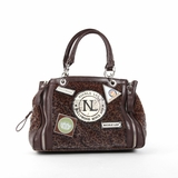 Nicole Lee Dana Animal Print Satchel Bag - Brown