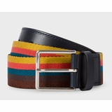 Paul Smith Artist Stripe Webbing Belt - Multi-colour