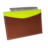 Paul Smith Leather Cardholder - Yellow/Tan