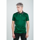 Paul Smith Polo Shirt With Black Striped Collar - Green