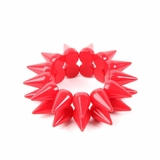 Plastik Krappe 2 Row Spike Stretch Bracelet - Red