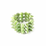 Plastik Krappe 3 Row Spike Stretch Bracelet - Green