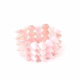 Plastik Krappe 3 Row Spike Stretch Bracelet - Pink