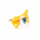 Plastik Krappe Eyeball and Bow Ring - Yellow