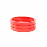 Plastik Krappe Neon Red Orange Bracelets