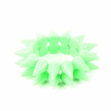 Plastik Krappe Neon Spike Stretch Bracelet Green