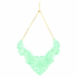 Plastik Krappe Neon Victorian Necklace - Green
