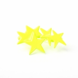 Plastik Krappe Neon Yellow Stars 3-Finger Ring