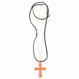 Plastik Krappe Orange Gold Spike Nekclace