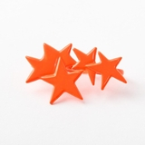 Plastik Krappe Orange Stars 3-Finger Ring
