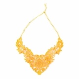 Plastik Krappe Orange Victorian Necklace