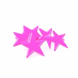 Plastik Krappe Purple Stars 3-Finger Ring