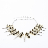 Plastik Krappe Silver & Gold Spike Necklace