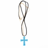 Plastik Krappe spike necklace - Blue Cross Gold
