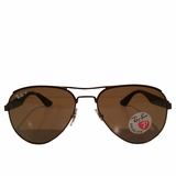 Ray-Ban Aviation Brown Polar Sunglasses - Brown