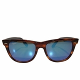 Ray-Ban Blue Mirror Wayfarer Sunglasses - Brown