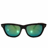 Ray-Ban Green Mirror Wayfarer Sunglasses - Black