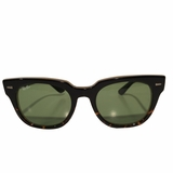 Ray-Ban Square Green Wayfarer Sunglasses - Black