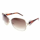 Roberto Cavalli Lens Brown Gradient Sunglasses - Gold/Brown