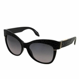 Roberto Cavalli Lens Gray Gradient Sunglasses- Black
