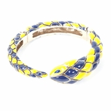 Roberto Cavalli Snake Women's Gold Bracelet - Blue/Yellow