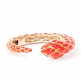 Roberto Cavalli Snake Women's Gold Bracelet - Orange