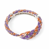 Roberto Cavalli Snake Women's Gold Bracelet - Purple/Orange