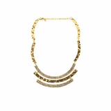 Rock Season Joanna Plate Necklace in Gold